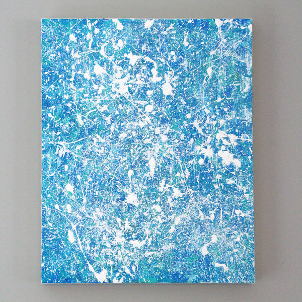 "Ocean Aerial 16x20"" Acrylic Painting - Original Art by Andrea Smith"