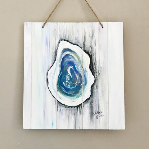 Oyster, Abstract Acrylic Painting by Andrea Smith