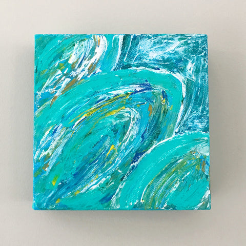 Little Palm, Acrylic Mini Painting by Andrea Smith