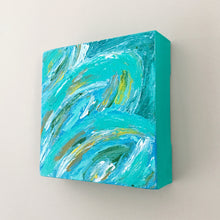 Load image into Gallery viewer, Tropical Leaves II, Acrylic Mini Painting by Andrea Smith