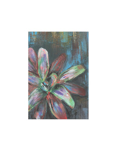 "Bromeliaceae (Bromeliad), 5x8"" Acrylic Painting - Original Art by Andrea Smith"