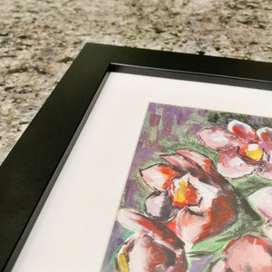 "Orchid, 5x8"" Acrylic Painting - Original Art by Andrea Smith"