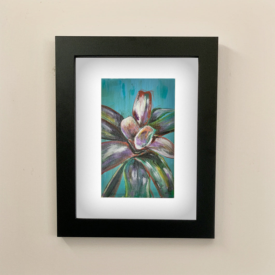 Neoregilia (Bromeliad) Acrylic Painting - Original Art by Andrea Smith