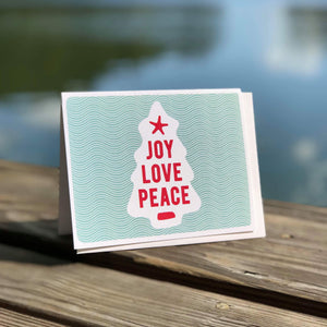 Joy Love Peace Christmas Card | Holiday Greeting Cards by 7th & Palm