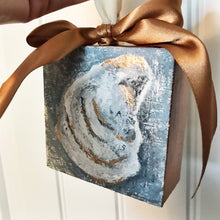 Load image into Gallery viewer, Oyster Shell Canvas Ornament - Coastal Home Decor by 7th & Palm