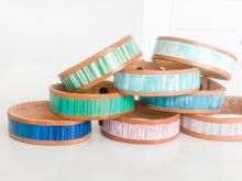 Load image into Gallery viewer, Cabana Stripe Handpainted Leather Bracelet 5
