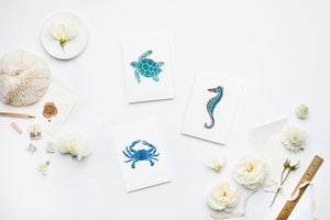Sea Life Stationery | Note Cards by 7th & Palm