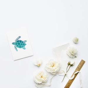 Sea Turtle Stationery | Note Cards by 7th & Palm
