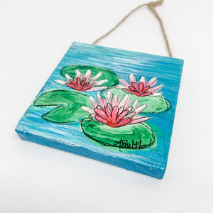 Waterlilies Mini Canvas Ornament 1