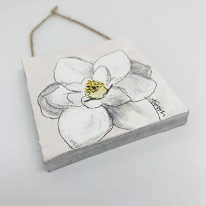 Magnolia Mini Canvas Ornament 1