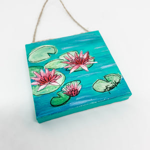 Waterlilies Mini Canvas Ornament 2