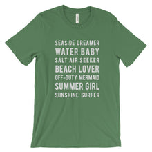 Load image into Gallery viewer, Leaf Green Beach Lover T-Shirt