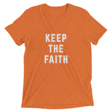 Load image into Gallery viewer, Orange Triblend Keep the Faith T-Shirt