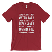 Load image into Gallery viewer, Red Beach Lover T-Shirt