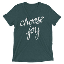 Load image into Gallery viewer, Emerald Tri-blend Choose Joy T-Shirt