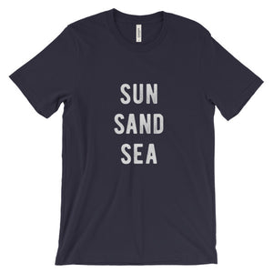 Navy Blue Sun Sand Sea T-Shirt