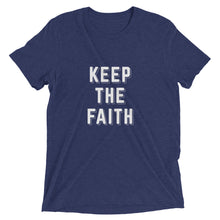 Load image into Gallery viewer, Navy Triblend Keep the Faith T-Shirt