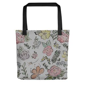 Floral Watercolor Tote Bag