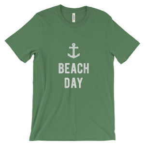 Leaf Green Beach Day T-Shirt
