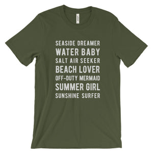 Olive Beach Lover T-Shirt