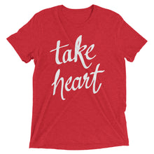 Load image into Gallery viewer, Red Triblend Take Heart T-Shirt