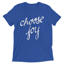 Load image into Gallery viewer, True Royal Triblend Choose Joy T-Shirt