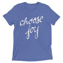 Load image into Gallery viewer, Blue Triblend Choose Joy T-Shirt