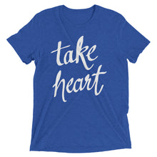 Load image into Gallery viewer, True Royal Triblend Take Heart T-Shirt