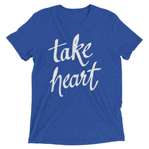 True Royal Triblend Take Heart T-Shirt