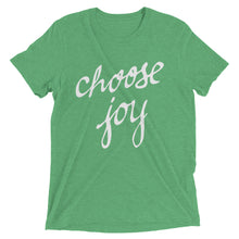 Load image into Gallery viewer, Green Triblend Choose Joy T-Shirt
