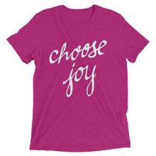 Load image into Gallery viewer, Berry Triblend Choose Joy T-Shirt