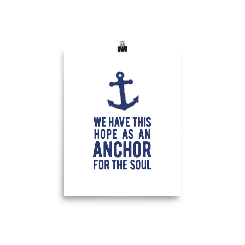 Hope Anchor Art Print