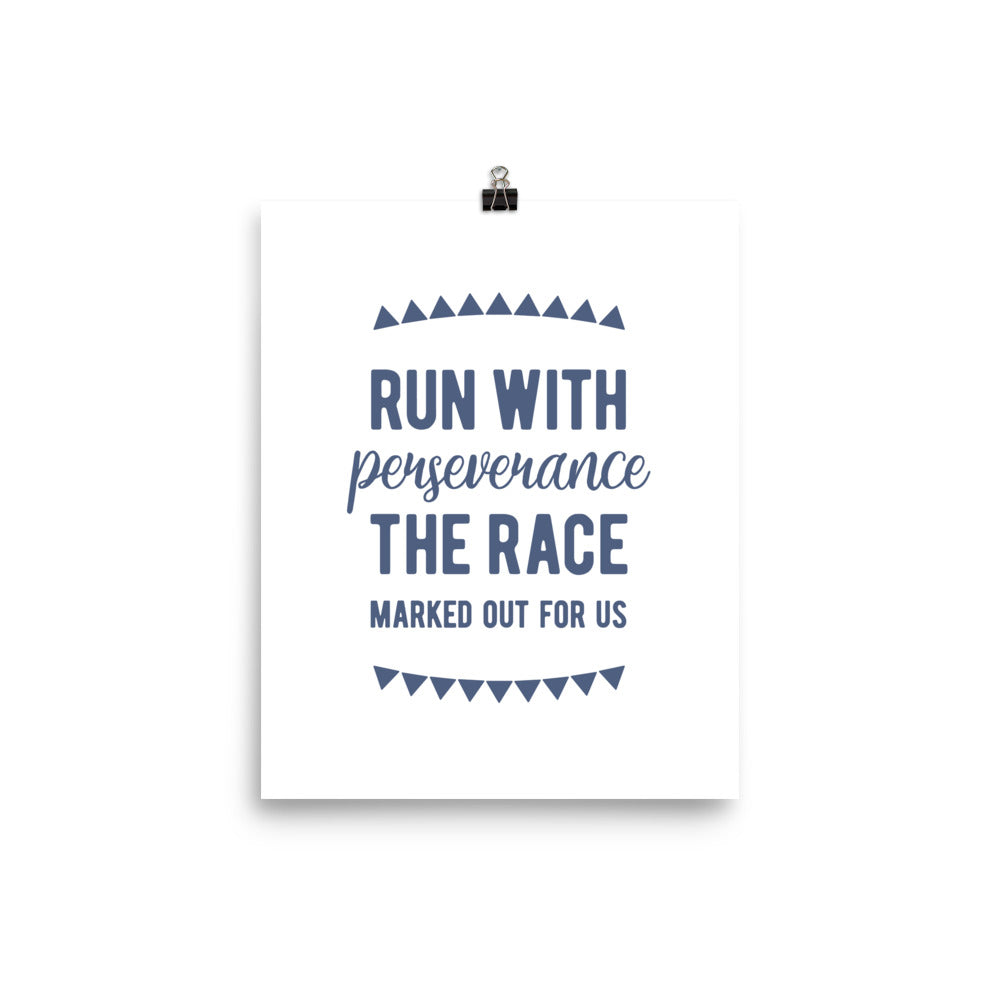 Run the Race Art Print