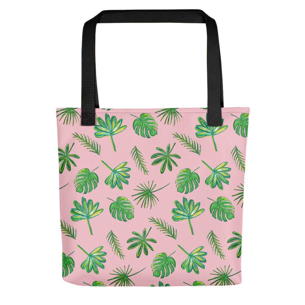 Pink Palms Tote Bag