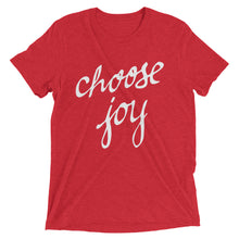 Load image into Gallery viewer, Red Triblend Choose Joy T-Shirt