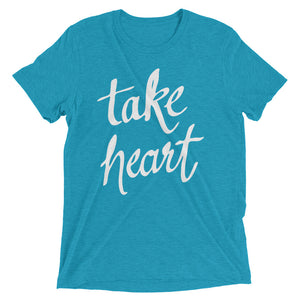 Aqua Triblend Take Heart T-Shirt