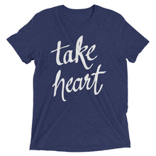 Load image into Gallery viewer, Navy Triblend Take Heart T-Shirt
