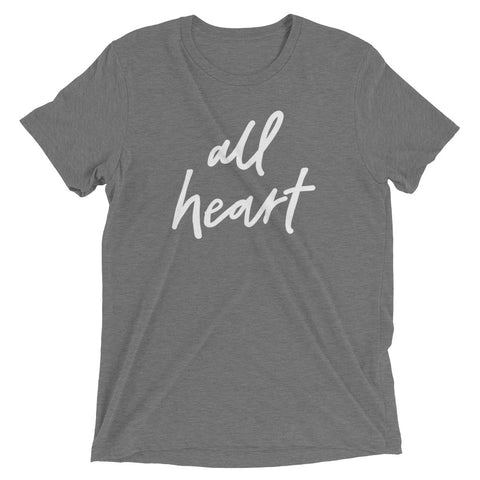 Grey Triblend All Heart T-Shirt