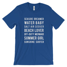 Load image into Gallery viewer, True Royal Blue Beach Lover T-Shirt