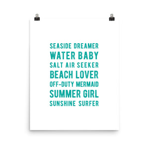 Beach Lover Art Print