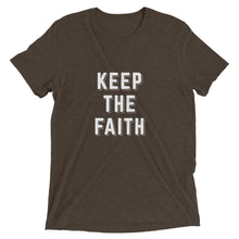 Load image into Gallery viewer, Brown Triblend Keep the Faith T-Shirt