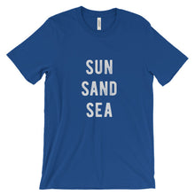 Load image into Gallery viewer, True Royal Blue Sun Sand Sea T-Shirt
