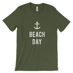 Olive Green Beach Day T-Shirt