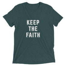 Load image into Gallery viewer, Emerald Triblend Keep the Faith T-Shirt