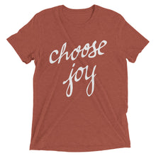 Load image into Gallery viewer, Clay Triblend Choose Joy T-Shirt