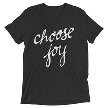 Load image into Gallery viewer, Charcoal-Black Triblend Choose Joy T-Shirt