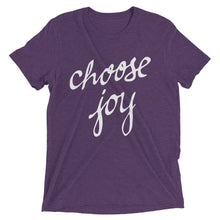 Load image into Gallery viewer, Purple Triblend Choose Joy T-Shirt
