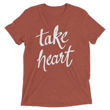 Load image into Gallery viewer, Clay Triblend Take Heart T-Shirt