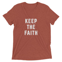 Load image into Gallery viewer, Clay Triblend Keep the Faith T-Shirt