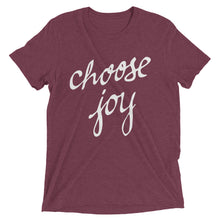 Load image into Gallery viewer, Maroon Tri-blend Choose Joy T-Shirt